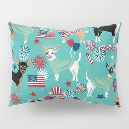 Chihuahua fourth of july patriotic america summer dog gifts home decor chihuahuas Pillow Sham