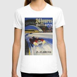 24hs Le Mans, 1958, vintage poster T-shirt