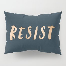 RESIST 7.0 - Rose Gold on Navy #resistance Pillow Sham