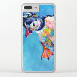 Flying puffin Clear iPhone Case