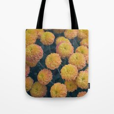 Autumn All Over Sunshine Chrysanthemums -- Fall Botanical Tote Bag