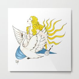 The Lady Aphrodite, The Golden Kypria. Metal Print