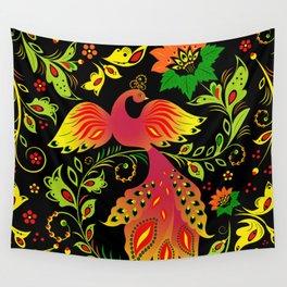 Fairy tale khokhloma bird Wall Tapestry