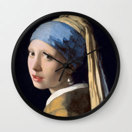 """Johannes Vermeer """"Girl with a Pearl Earring"""" Wall Clock"""