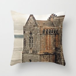 Mont St. Michel - Square Tower - Brittany France Throw Pillow