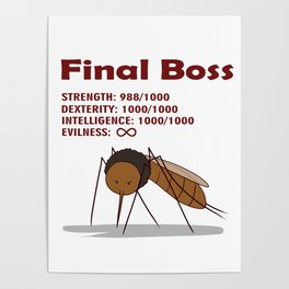 Final Boss - Red Letters Poster