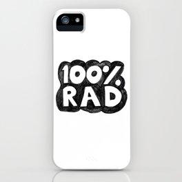 100 % RAD - Bubble iPhone Case