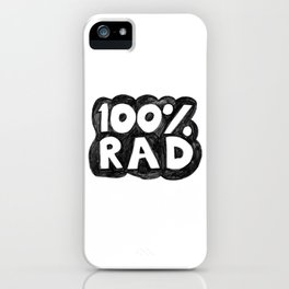 100 % RAD - Bubble iPhone Case