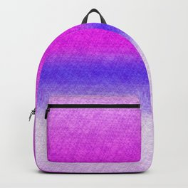 Abstract lilac blue pink geometrical ombre Backpack