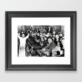 The Night Prohibition Ended Framed Art Print