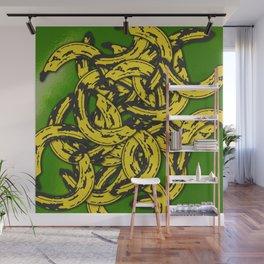 Banana Rama Green Wall Mural