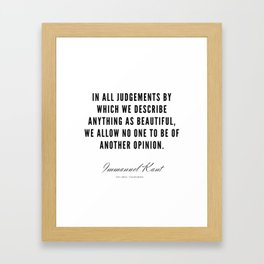 24   |  Immanuel Kant Quotes | 190810 Framed Art Print