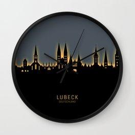Lubeck Germany Skyline Wall Clock