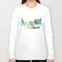 periodic table Long Sleeve T-shirts featuring Periodic Table, Pixilated Color Blocks by kltj11