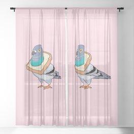 Bread Pigeon Sheer Curtain