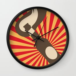 Molotov Cocktail with beams Wall Clock