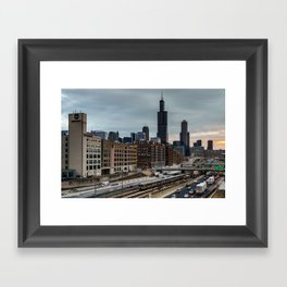 Friday Traffic Framed Art Print