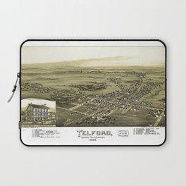 Aerial View of Telford, Pennsylvania (1894) Laptop Sleeve