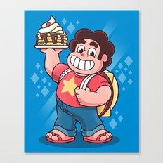 Breakfast Boy Canvas Print