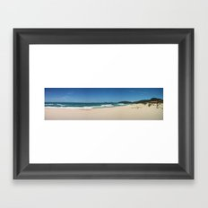 Sun in Brazilian Beach Framed Art Print