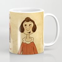 popeye Mugs featuring Olive Oyl by Celine Billy