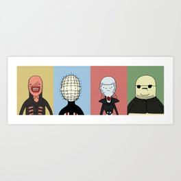 Adventure Time with Cenobites from Hellraiser Art Print