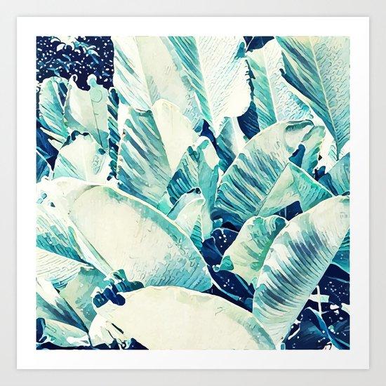 Banana Leaf Crush #society6 #decor #buyart Art Print