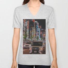 Tokyo feels : Shinjuku blue 6 Unisex V-Neck