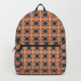 Barcelona tile red octagonal pattern Backpack