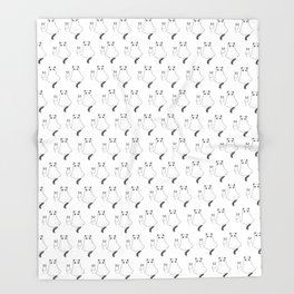Cat Ghost & Mouse Ghost – Nightmare Throw Blanket