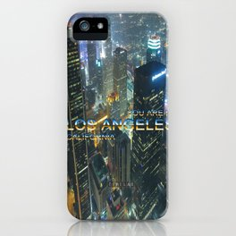 TimeLAX: You are in Los Angeles California iPhone Case