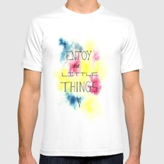 Enjoy the little things Mens Fitted Tee MEDIUM White