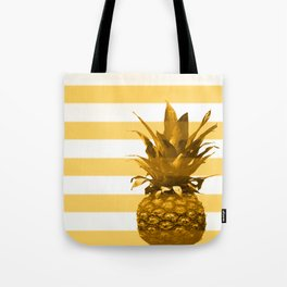 Pineapple with yellow stripes - summer feeling Tote Bag