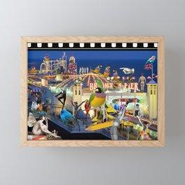 Welcome to Brighton Framed Mini Art Print