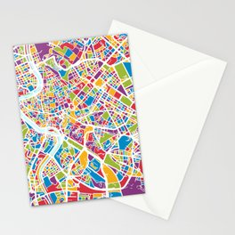 Rome Italy Street Map Stationery Cards