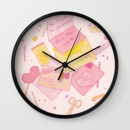 Love Letters to Yourself Wall Clock