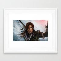 megan lara Framed Art Prints featuring Lara  by Lara Cremon