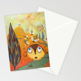 oh no the bees Stationery Cards
