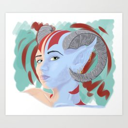 Demon' Gaze Art Print