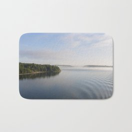 View from Boat - Morning  Bath Mat