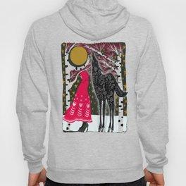Red Riding Hood Fairy Tale Folk Art Hoody