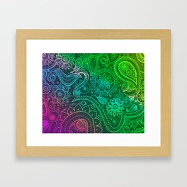 Paisley vivid  Framed Art Print