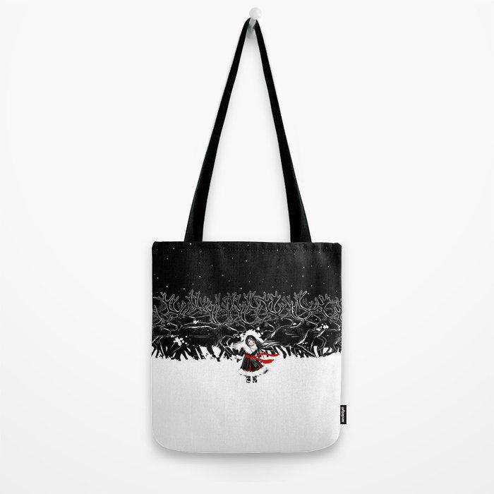 Night of Reindeer Tote Bag