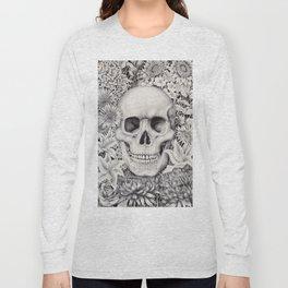 Skull and Flowers Vanitas Long Sleeve T-shirt