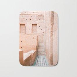 Colors of Marrakech Morocco - El badi palace photo print | Pastel travel photography art Bath Mat