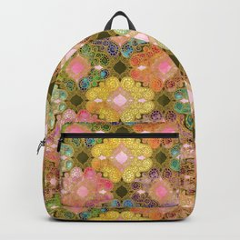 Marrakesh Flowers olive & rose Backpack