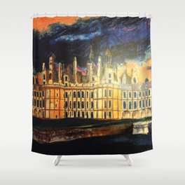 Chambord Chateau – Romantic France Shower Curtain