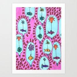 Fish Lamp-Bowl Art Print