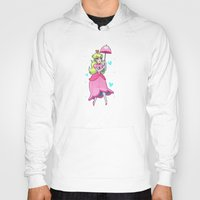 princess peach Hoodies featuring Princess Peach by ZoeStanleyArts