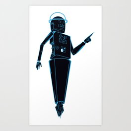 Space robots  Art Print